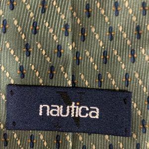Nautica  Men's Green Silk Tie 58 x 4